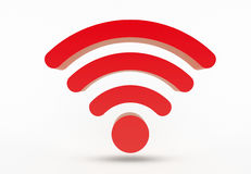 WiFi icon. Symbol isolated on white background stock photo