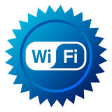 WiFi Icon. Wifi web button - computer generated image. Eps file available Royalty Free Stock Images