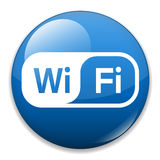 WiFi Icon. Wifi web button - computer generated image. Eps file available Stock Photography