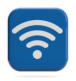 WiFi icon. Wireless technology WiFi sign 3D icon Royalty Free Stock Image