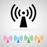Wifi icons set  great for any use. Vector EPS10. Stock Photography