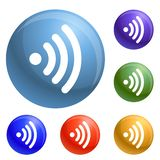 Wifi icons set vector vector illustration