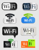 Wifi icons. Vector wi-fi icons. Different styles and designs Royalty Free Stock Photography