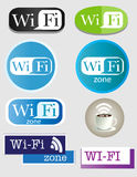 Wifi icons. Vector wi-fi icons SET 3. Different styles and designs Royalty Free Stock Photo