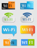 Wifi icons. Vector wi-fi icons SET 2. Different styles and designs Royalty Free Stock Photo