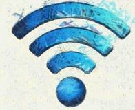Wifi ikony ilustracja Zdjęcia Royalty Free