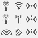 WiFi ikony set Obrazy Stock