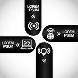 Wifi infographics Stock Image