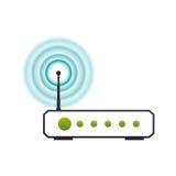 Wifi internet modem Stock Photo