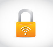 Wifi internet password lock concept illustration Royalty Free Stock Images