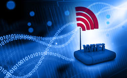 Wifi internet router switch modem Royalty Free Stock Images