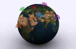 WIFI intorno al mondo Fotografia Stock Libera da Diritti