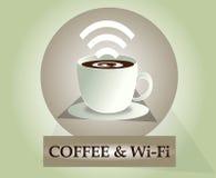 Wifi kawy ikona ilustracja wektor