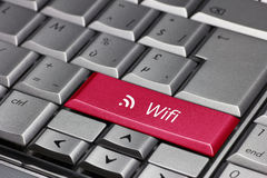 Wifi on the laptop key Stock Image