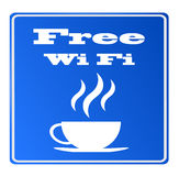 Wifi libre disponible en la barra stock de ilustración