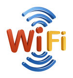 wiFi logo. 3D pojęcie Obrazy Stock