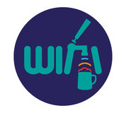 Wifi Logo Concept Design Images libres de droits