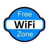 Wifi logo zone sign -. Stock Royalty Free Stock Images
