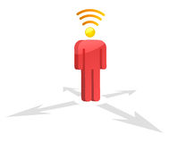 Wifi Man head. On white background Royalty Free Stock Images