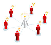 Wifi Mans Signal Connection Stock Images