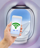 Wifi at my flight Stock Image