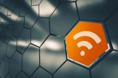 WiFi-Netwerkbeschikbaarheid Royalty-vrije Stock Foto