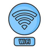 Wifi network, Art Line Royalty Free Stock Photo