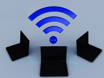 Wifi network Royalty Free Stock Photo
