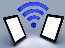 Wifi network tablet pc Royalty Free Stock Photo