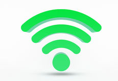 WiFi-pictogram - symbo Royalty-vrije Stock Foto's