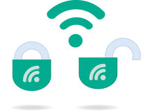 WiFi protection Royalty Free Stock Photo