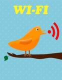 Wifi ptak royalty ilustracja