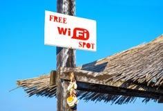 WiFi punktu bezpłatny znak obraz stock
