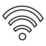 Wifi, radio- eller internetsymbolsdesign Arkivbild