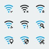 Wifi related vector icons Stock Photo