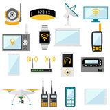 Wifi remote control electronic gadgets vector Royalty Free Stock Images