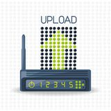 Wifi router icon related with upload internet. Vector illustration Royalty Free Stock Images