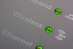 Wifi router indicators close up Royalty Free Stock Photography