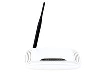 Wifi router isolated on white Stock Images