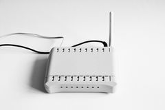 Wifi router isolated on white Royalty Free Stock Photo
