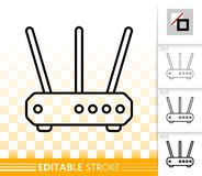 Wifi Router simple black line vector icon vector illustration
