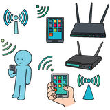 Wifi router. Vector set of wifi router Stock Image