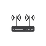 Wifi router, wireless dsl modem icon vector, filled flat sign, s Royalty Free Stock Photo