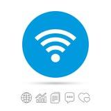Wifi sign. Wi-fi symbol. Wireless Network. Royalty Free Stock Photography