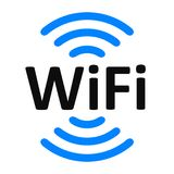 Wifi sign zone location. – for stock Royalty Free Stock Image
