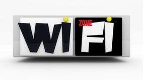 WIFI sign zone Stock Photo