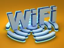 WiFi signal background Stock Image