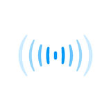 Wifi signal connection sound radio wave logo symbol Royalty Free Stock Photography