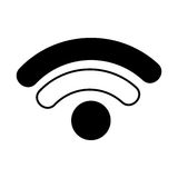 Wifi signal isolated icon Royalty Free Stock Photography