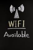 Wifi signal sign stock photo